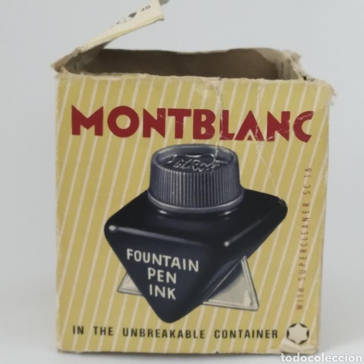 Escribanía: Antiguo tintero MONTBLANC para tinta estilográfica en frasco irrompible, años 70 - Foto 5 - 263112325