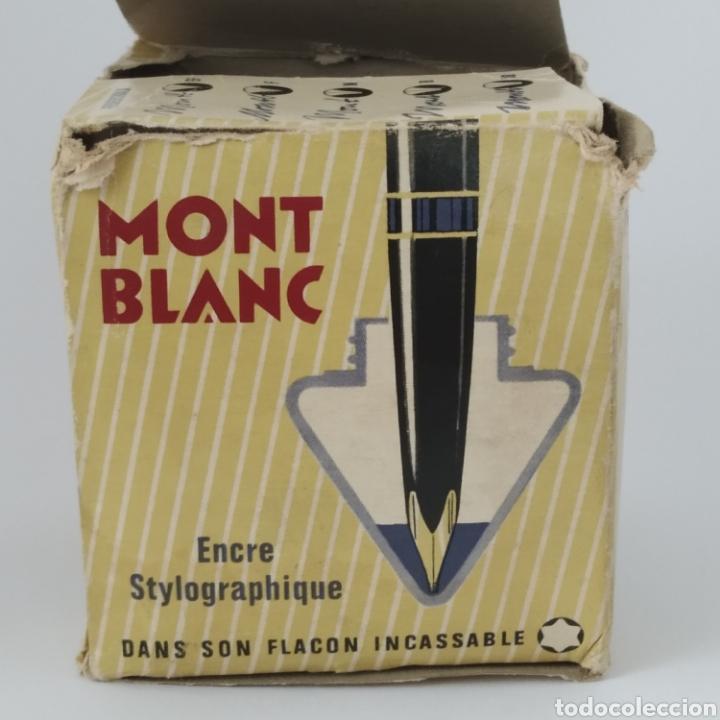 Escribanía: Antiguo tintero MONTBLANC para tinta estilográfica en frasco irrompible, años 70 - Foto 6 - 263112325
