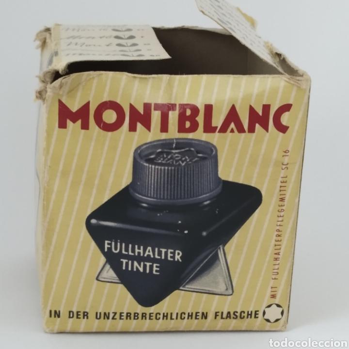 Escribanía: Antiguo tintero MONTBLANC para tinta estilográfica en frasco irrompible, años 70 - Foto 7 - 263112325