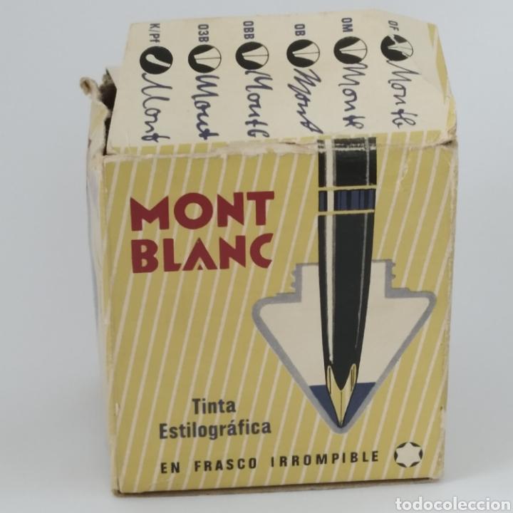 Escribanía: Antiguo tintero MONTBLANC para tinta estilográfica en frasco irrompible, años 70 - Foto 8 - 263112325
