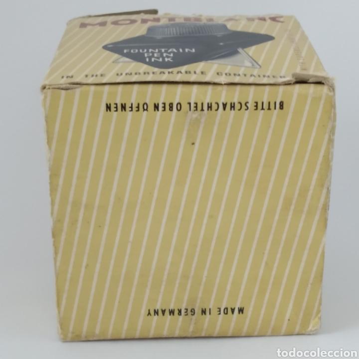 Escribanía: Antiguo tintero MONTBLANC para tinta estilográfica en frasco irrompible, años 70 - Foto 9 - 263112325
