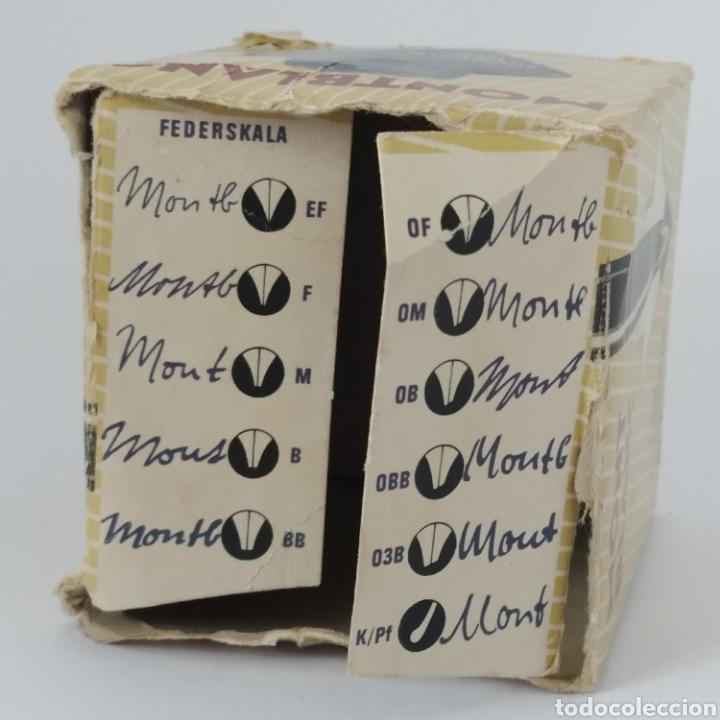Escribanía: Antiguo tintero MONTBLANC para tinta estilográfica en frasco irrompible, años 70 - Foto 10 - 263112325