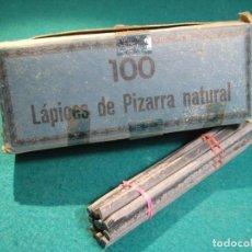 Escribanía: 12 LAPICES PARA PIZARRA NATURAL, PIZARRIN. Lote 279590343