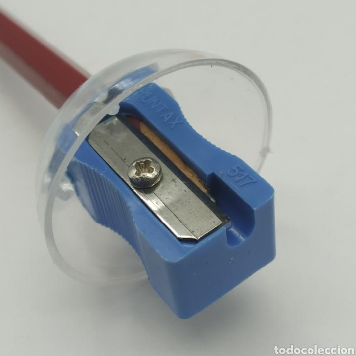 Escribanía: Caja con 12 sacapuntas Bombilla maquineta, años 70/80 fabricante Puntax, marca Booking - Foto 5 - 267651079