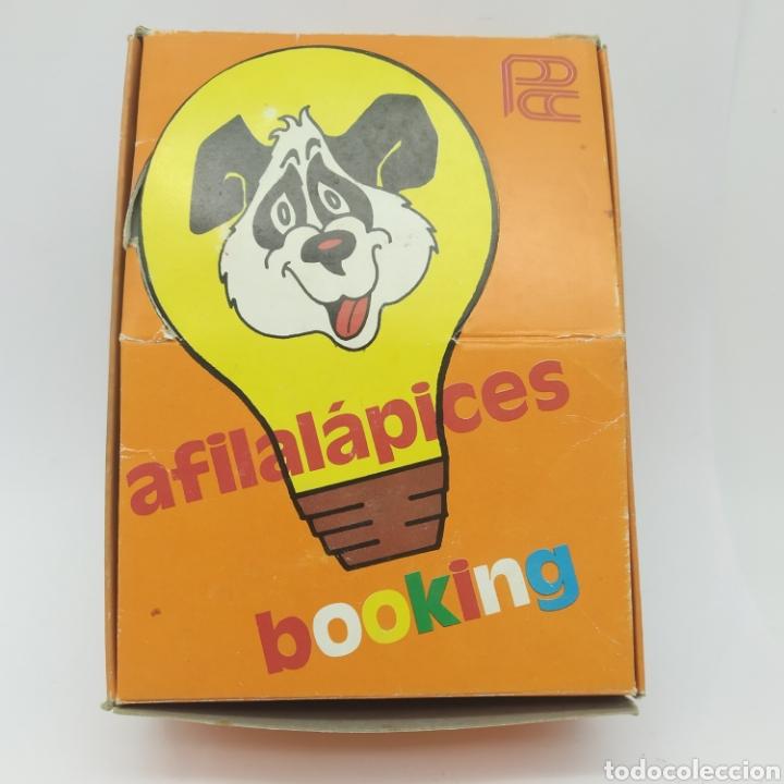 Escribanía: Caja con 12 sacapuntas Bombilla maquineta, años 70/80 fabricante Puntax, marca Booking - Foto 6 - 267651079