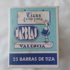 Escribanía: VIEJA CAJA DE TIZAS,MARBLAS VALENCIA,EXTRA FINA X 25. Lote 268922904
