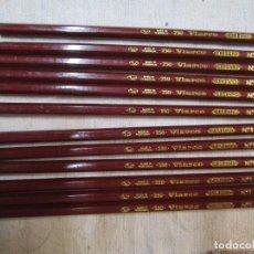 Escribanía: LOTE 12 LAPICEROS ' VIARCO 250 Nº 1 PORTUGAL' 18CM GRAFITO, 60'S, SIN USO, NO OFERTAS EN ESTE LOTE*. Lote 268968394