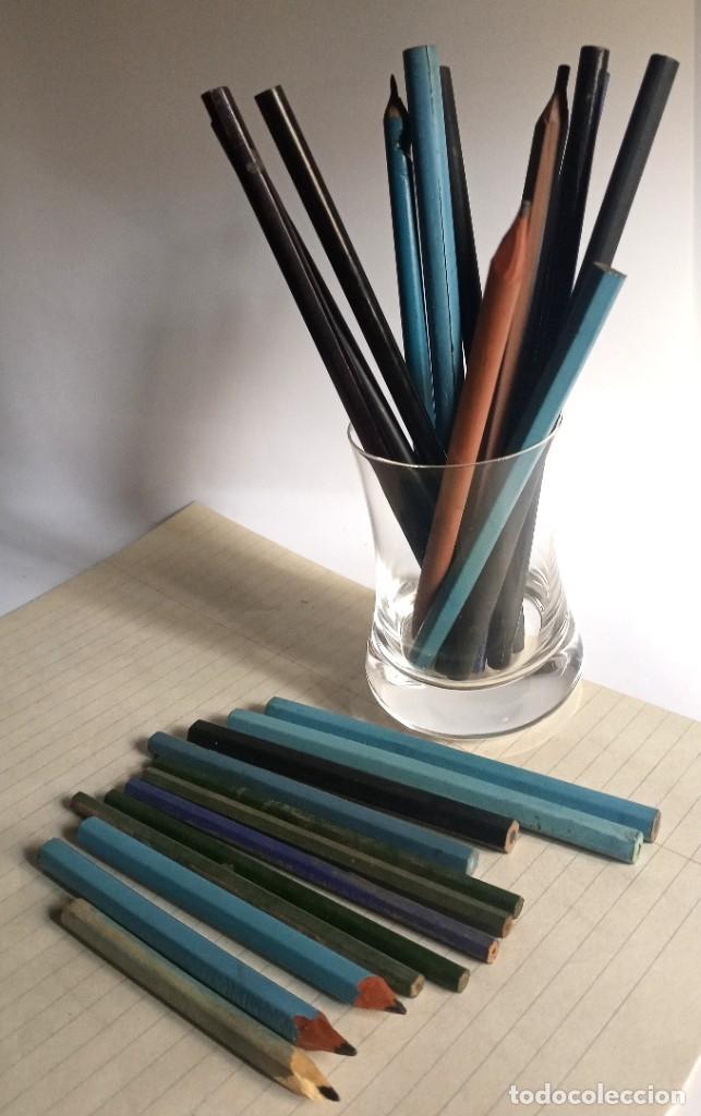 Escribanía: Lote 24 LÁPICES AÑOS 50-60 • SIN MARCA • lápiz antiguo escuela COLEGIO - Foto 2 - 269081238