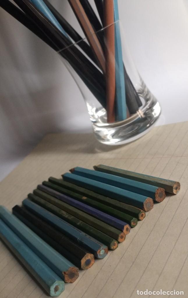 Escribanía: Lote 24 LÁPICES AÑOS 50-60 • SIN MARCA • lápiz antiguo escuela COLEGIO - Foto 4 - 269081238