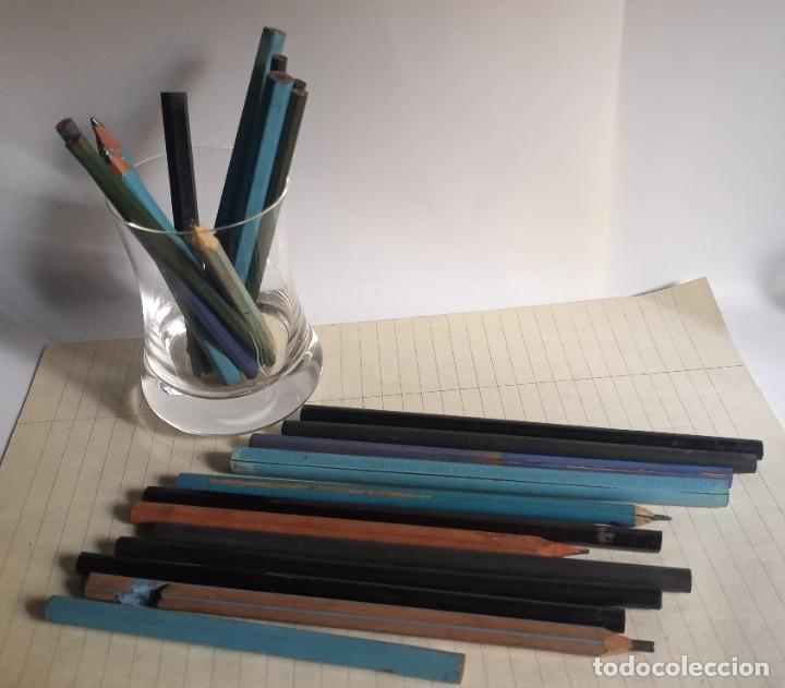 Escribanía: Lote 24 LÁPICES AÑOS 50-60 • SIN MARCA • lápiz antiguo escuela COLEGIO - Foto 6 - 269081238