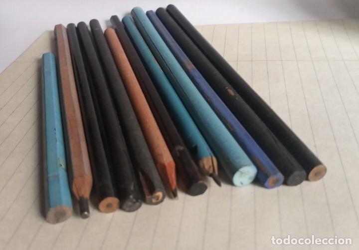 Escribanía: Lote 24 LÁPICES AÑOS 50-60 • SIN MARCA • lápiz antiguo escuela COLEGIO - Foto 9 - 269081238