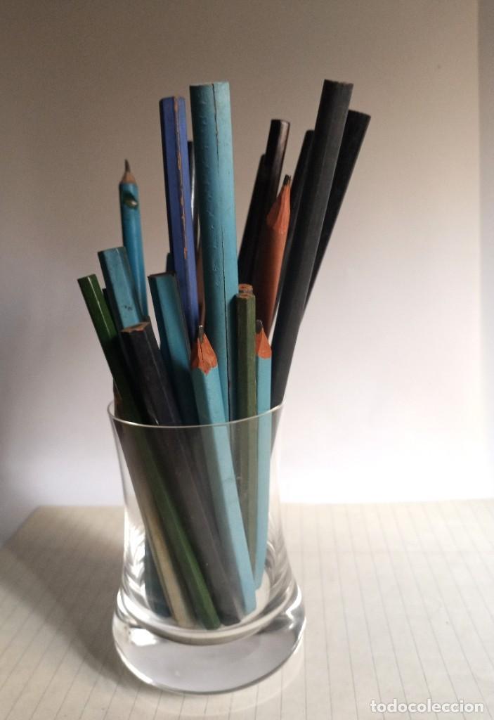 Escribanía: Lote 24 LÁPICES AÑOS 50-60 • SIN MARCA • lápiz antiguo escuela COLEGIO - Foto 10 - 269081238
