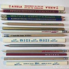 Escribanía: CONJUNTO DE 14 LÁPICES DE PUBLICIDAD / BARBASTRO / HUESCA. Lote 270406053