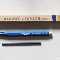 Outils d'Écriture: LAPIZ METÁLICO PORTAMINAS. BAIGNOL & FARJON. FRANCE. 12,5 CMS. CAJA Y PUBLICIDAD... VELL I BELL. Lote 275141928