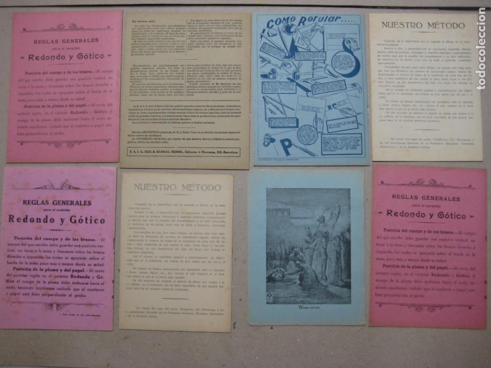 Escribanía: LOTE Nº 2 8 CUADERNOS DE CALIGRAFÍA, DIBUJO AÑOS 1940-50, PLUMILLAS ESCRITURA - Foto 2 - 275908928