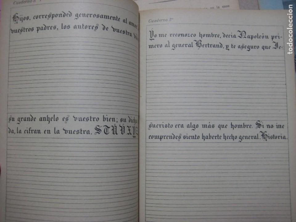 Escribanía: LOTE Nº 2 8 CUADERNOS DE CALIGRAFÍA, DIBUJO AÑOS 1940-50, PLUMILLAS ESCRITURA - Foto 3 - 275908928