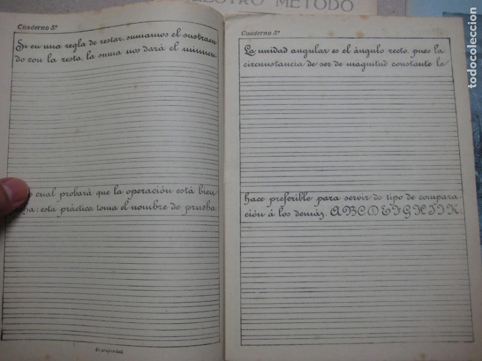 Escribanía: LOTE Nº 2 8 CUADERNOS DE CALIGRAFÍA, DIBUJO AÑOS 1940-50, PLUMILLAS ESCRITURA - Foto 7 - 275908928