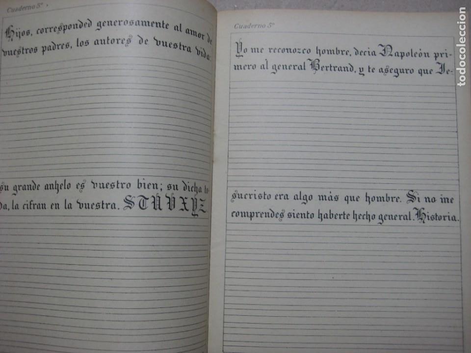 Escribanía: LOTE Nº 2 8 CUADERNOS DE CALIGRAFÍA, DIBUJO AÑOS 1940-50, PLUMILLAS ESCRITURA - Foto 10 - 275908928
