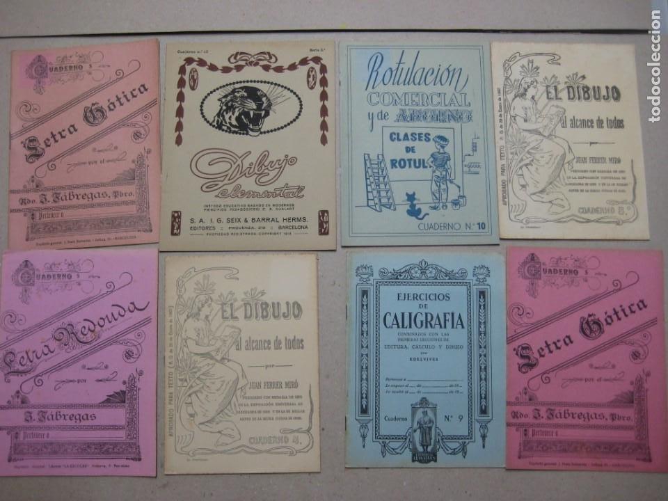 LOTE Nº 2 8 CUADERNOS DE CALIGRAFÍA, DIBUJO AÑOS 1940-50, PLUMILLAS ESCRITURA (Plumas Estilográficas, Bolígrafos y Plumillas - Plumillas y Otros Elementos de Escribanía)