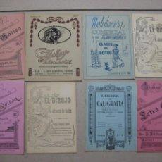 Escribanía: LOTE Nº 2 8 CUADERNOS DE CALIGRAFÍA, DIBUJO AÑOS 1940-50, PLUMILLAS ESCRITURA. Lote 275908928