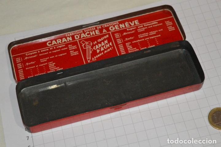 Escribanía: Lote CARAN DACHE / Lápiz rojo 2053, más 2 CAJAS / ESTUCHES, sin contenido ¡Mira fotos/detalles! - Foto 3 - 276024668