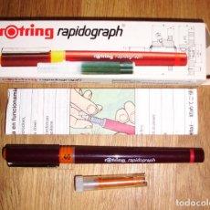 Escribanía: ESTILÓGRAFO ROTRING RAPIDOGRAPH 0,4 ART. 155 040. 0,40 MM. [155040]. Lote 277633658