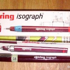 Escribanía: ESTILÓGRAFO ROTRING ISOGRAPH 0,8 ART. 151 080. 0,80 MM. [155080]. Lote 277634248