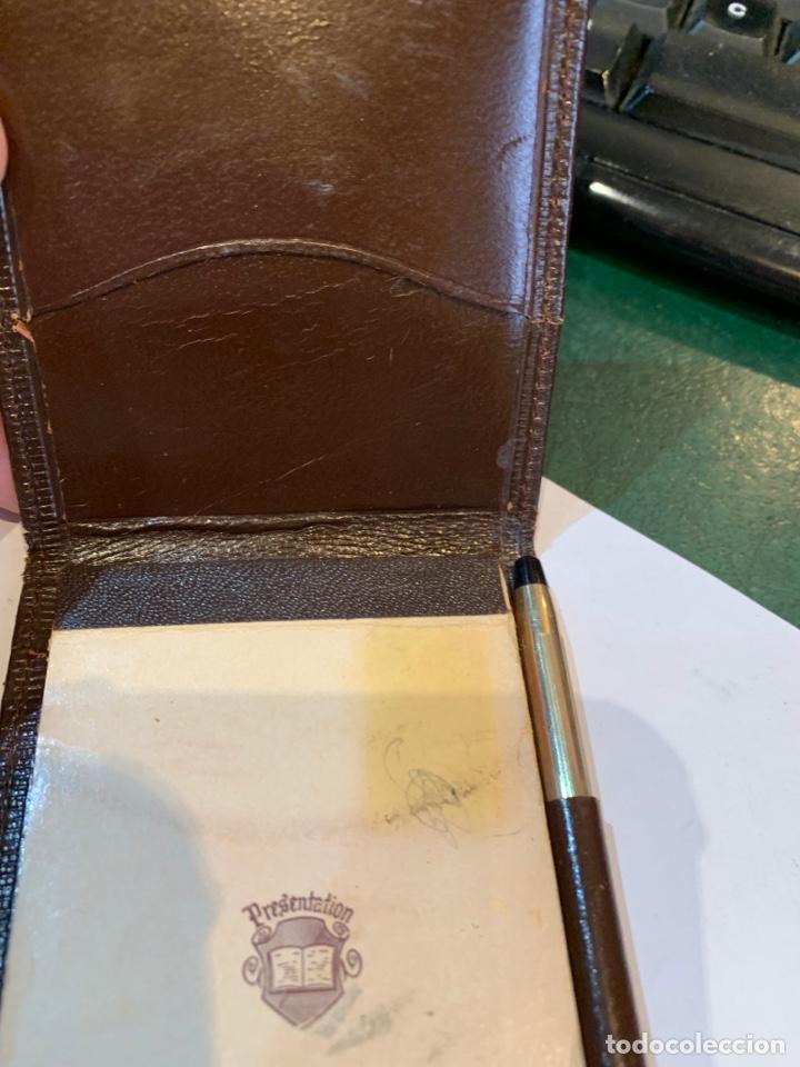 Escribanía: Antigua libreta Piel y portaminas tipo Cross - Foto 9 - 279362763