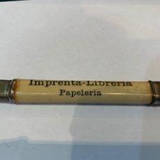 Escribanía: LAPICERO ANTIGUO PUBLICIDAD IMPRENTA LIBRERIA PAPELERIA CARTAGENA. Lote 282471523