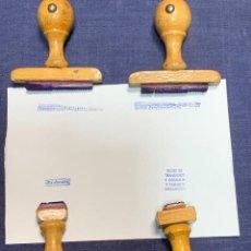 Escribanía: LOTE 4 SELLOS OFICINA TINTA TAMPONES DIAS LABORABLES MITAD S XX 5X5CMS. Lote 287915088