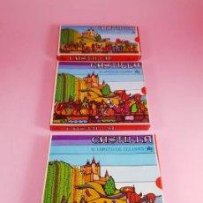 Escribanía: LOTE 3 CAJAS-LÁPICES COLORES-CASTILLA-MASATS-SIN CÓDIGO DE BARRAS-COLECCIONISTAS-NOS-VER FOTOGRAFÍAS. Lote 289907983
