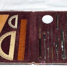 Estilográficas antiguas, bolígrafos y plumas: ANTIGUA CAJA DE DIBUJO DE 1905 / 1910, COMPLETA. JOYA DE COLECCIONISTA.. Lote 27372996