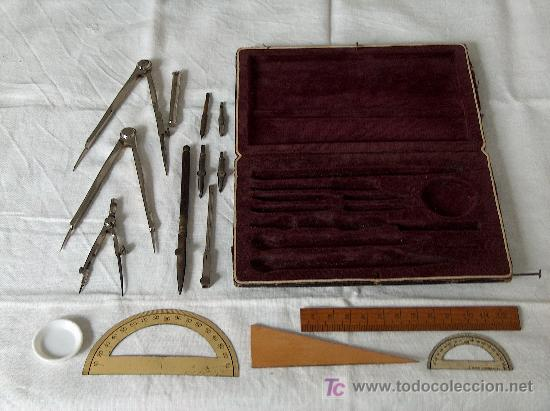 Estilográficas antiguas, bolígrafos y plumas: Antigua caja de dibujo de 1905 / 1910, completa. Joya de coleccionista. - Foto 2 - 27372996