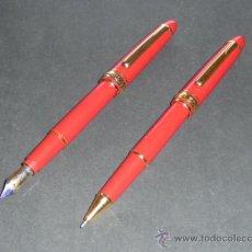 Estilográficas antiguas, bolígrafos y plumas: JUEGO DE ROTULADOR Y PLUMA DE VICHY BASIC HOMME. Lote 23482376