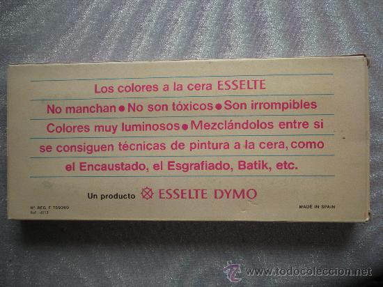 Estilográficas antiguas, bolígrafos y plumas: antigua caja de 12 ceras marca Esselte, sin usar - Foto 2 - 25494358