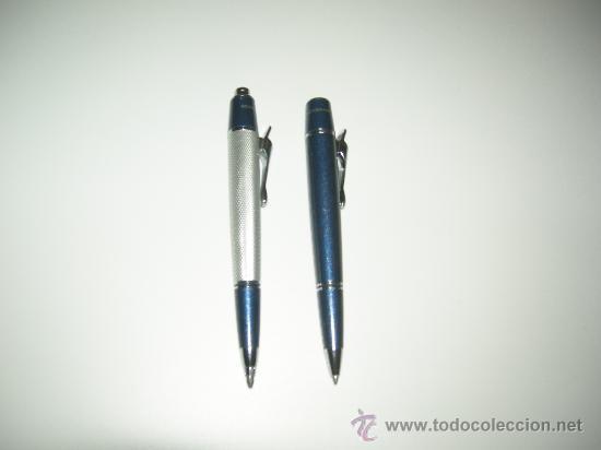 Estilográficas antiguas, bolígrafos y plumas: JUEGO DE BOLÍGRAFO Y LAPICERO DE SERGIO TACHINI - LACA AZUL -(GRUESOS)-CON CAJA. - Foto 2 - 26562096