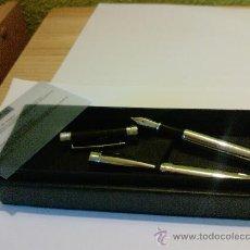 Estilográficas antiguas, bolígrafos y plumas: CONJUNTO DE BOLIGRAFO Y PLUMA CERRUTI 1881. Lote 27354317