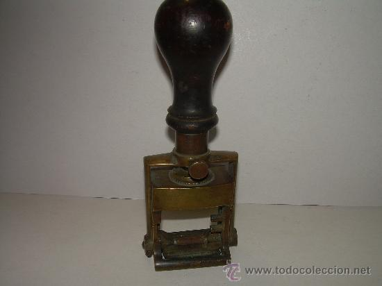 Estilográficas antiguas, bolígrafos y plumas: ANTIGUO TAMPON DE BRONCE - Foto 4 - 27569385