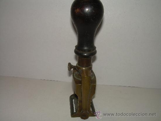 Estilográficas antiguas, bolígrafos y plumas: ANTIGUO TAMPON DE BRONCE - Foto 5 - 27569385