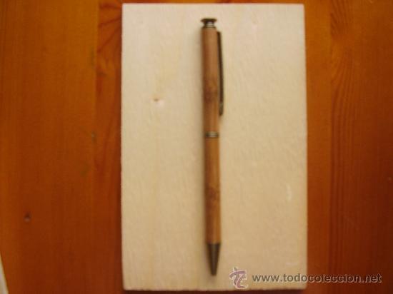 Estilográficas antiguas, bolígrafos y plumas: Estuche con bolígrafo VALENTÍN RAMOS de caña de bambú. ¡Nuevo, nunca usado! Juego. Conjunto. - Foto 5 - 26305818