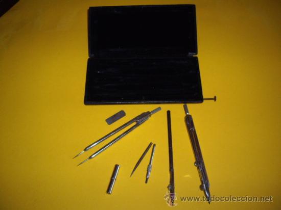 Estilográficas antiguas, bolígrafos y plumas: ANTIGUA CAJA DE COMPASES - - Foto 2 - 29876029