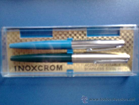 Estilográficas antiguas, bolígrafos y plumas: ANTIGUO JUEGO DE PLUMA Y ROTULADOR DE INOXCROM - Foto 2 - 31141817