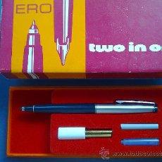 Estilográficas antiguas, bolígrafos y plumas: ANTIGUO BOLIGRAFO-PLUMA, 2 EN 1........CURIOSO. Lote 31141882