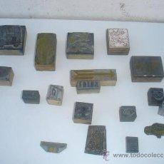 Estilográficas antiguas, bolígrafos y plumas: 18 SELLOS SECOS DE IMPRENTA. Lote 31523044