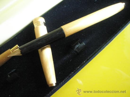 Estilográficas antiguas, bolígrafos y plumas: 9085/JUEGO-PLUMA+BOLIGRAFO-LOSTER-ORO-CAJA-nos-ver fotos. - Foto 6 - 31818577