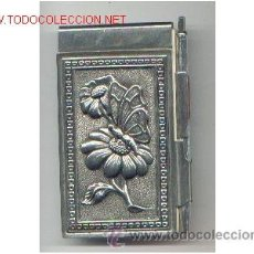 Estilográficas antiguas, bolígrafos y plumas: AGENDA METALICA AÑOS 1960. Lote 32202139