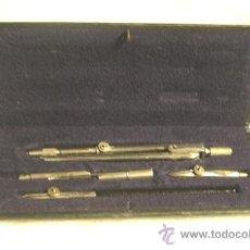 Estilográficas antiguas, bolígrafos y plumas: JUEGO DE COMPAS COMPLETO. Lote 33454313