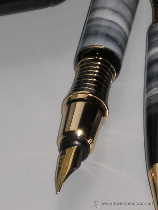Estilográficas antiguas, bolígrafos y plumas: CONJUNTO LUJOSO DE PLUMA ESTILOGRAFICA Y BOLIGRAFO DOREX ( MARMOL ) , A ESTRENAR . - Foto 3 - 33474720