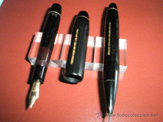 Estilográficas antiguas, bolígrafos y plumas: 1133/JUEGO-PLUMA+PORTAMINAS-KAWECO SPORT 55-NEGRO+DORADOS-FUNDA PIEL ORIGINAL - Foto 10 - 34085850