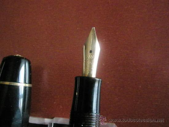 Estilográficas antiguas, bolígrafos y plumas: 1133/JUEGO-PLUMA+PORTAMINAS-KAWECO SPORT 55-NEGRO+DORADOS-FUNDA PIEL ORIGINAL - Foto 9 - 34085850